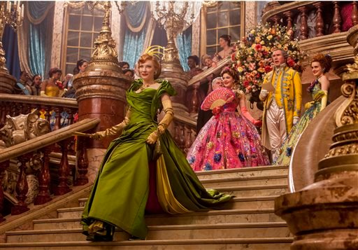 "This image released by Disney shows Cate Blanchett in Disney's live-action feature film inspired by the classic fairy tale, ""Cinderella."" (AP Photo/Disney, Jonathan Olley)"