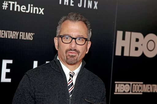 """In this Jan. 28, 2015 file photo, director Andrew Jarecki attends the HBO documentary series premiere of """"The Jinx: The Life and Deaths of Robert Durst"""" in New York City. Robert Durst, a wealthy eccentric linked to two killings and his wife's disappearan"""