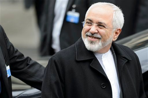 Iranian Foreign Minister Mohammad Javad Zarif leaves the hotel Beau-Rivage Palace after 5 days of bilateral meetings with U.S. Secretary of State John Kerry during a new round of Nuclear Iran Talks, in Lausanne, Switzerland, Friday, March 20, 2015. (AP Ph