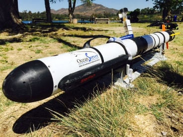 This picture features one of the tools to be used in the search of Lake Murray for a SDSU student.