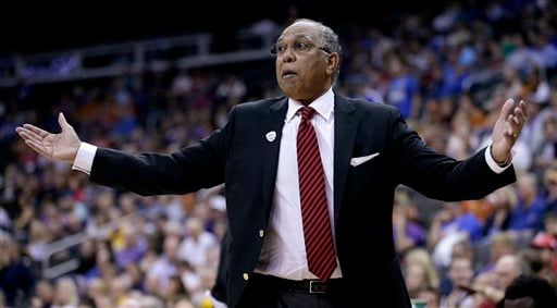 March 11, 2015 file photo: Texas Tech coach Tubby Smith gestures during his team's NCAA college basketball game against Texas in the first round of the Big 12 Conference tournament in Kansas City, Mo. (AP Photo/Charlie Riedel, File)