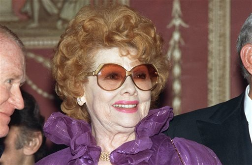In this May 1987 file photo, actress and comic legend Lucille Ball is shown.
