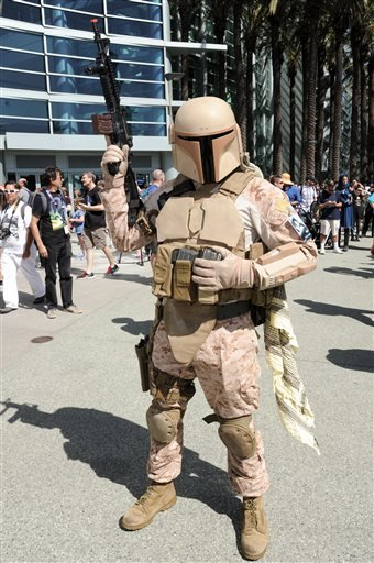A Star Wars Fan attends the Star Wars Celebration: The Ultimate Fan Experience held at the Anaheim Convention Center on Thursday, April 16, 2015, in Anaheim, Calif.