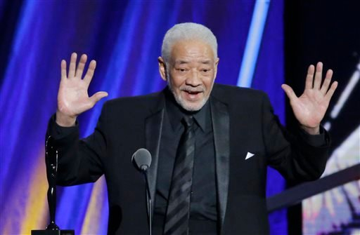 Bill Withers speaks at the Rock and Roll Hall of Fame Induction Ceremony Saturday, April 18, 2015, in Cleveland.