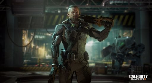 "This image released by Activision shows a scene from ""Call of Duty: Black Ops 3,"" the third installment in Treyarch's military shooter saga, scheduled for release Nov. 6."