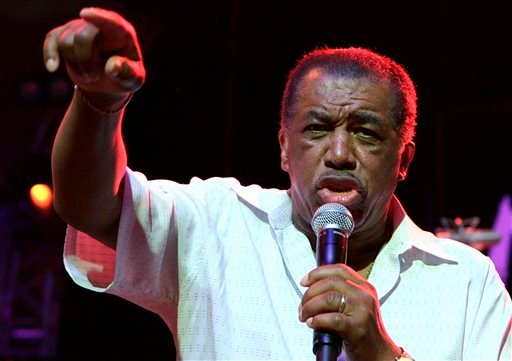 In this June 30, 2006, file photo, Ben E. King performs on stage during the opening of the 40th Montreux Jazz Festival at the Stravinski hall in Montreux, Switzerland.