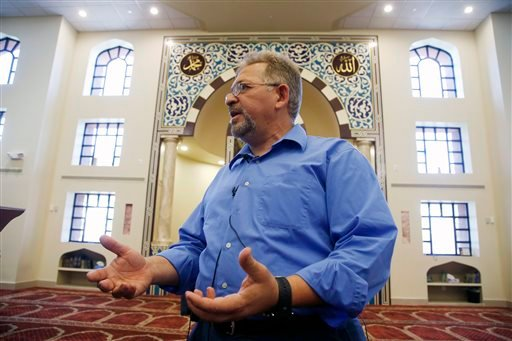 Usama Shami, the president of the Islamic Community Center of Phoenix, speaks at the mosque Monday, May 4, 2015, in Phoenix. Elton Simpson was one of the two gunmen who was shot and killed by authorities outside a suburban Dallas venue, which was hosting