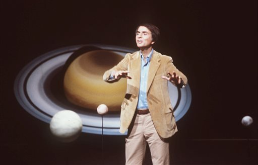 In this 1981 file photo, astronomer Carl Sagan speaks during a lecture. On Saturday, May 9, 2015, Cornell University announced that its Institute for Pale Blue Dots is to be renamed the Carl Sagan Institute. Sagan was famous for extolling the grandeur of