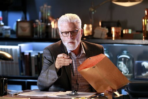 "This image released by CBS shows Ted Danson in a scene from ""CSI: Crime Scene Investigation."""