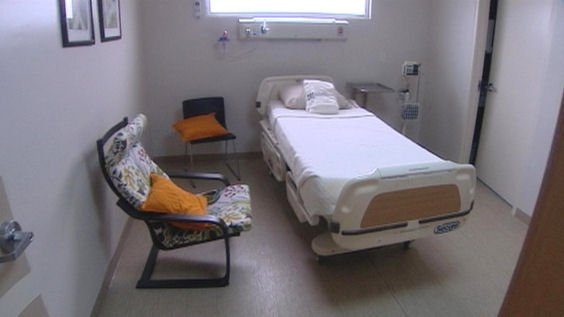 Clinic recovery room where Gordie Howe stayed