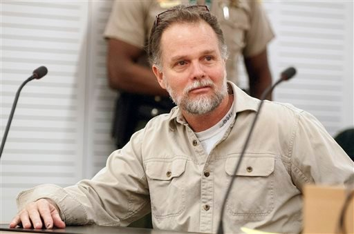 Jan. 30, 2015, file photo: Charles Merritt sits in a San Bernardino, Calif., courtroom accused of killing four members of the McStay family.  (James Quigg/The Victor Valley Daily Press via AP, File)