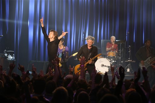 Mick Jagger and the Rolling Stones perform at the Fonda Theatre in Los Angeles, Wednesday, May 20, 2015.