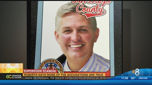 This is a promotional baseball card featuring San Diego County Supervisor Dave Roberts.