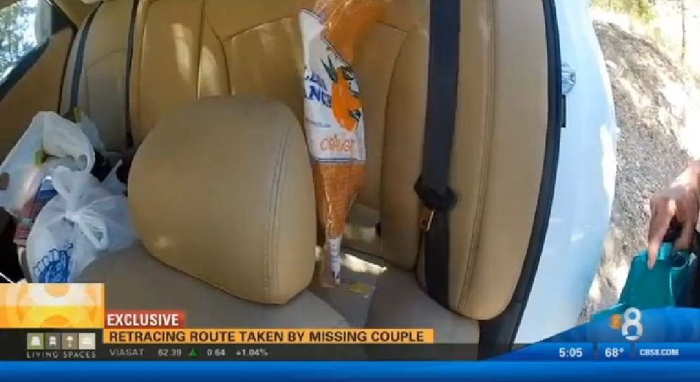 Empty bag of oranges found in vehicle