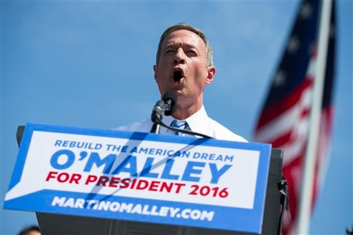 Former Maryland Gov. Martin O'Malley speaks during an event to announce that he is entering the Democratic presidential race, on Saturday, May 30, 2015, in Baltimore. O'Malley has presented himself to voters as a next-generation leader for the party, poin