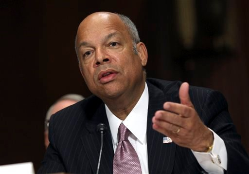 In this April 28, 2015, file photo, Homeland Security Secretary Jeh Johnson testifies on Capitol Hill in Washington, before the Senate Judiciary Committee on oversight of the department. Johnson on Monday, June 1, 2015, directed the Transportation Securi