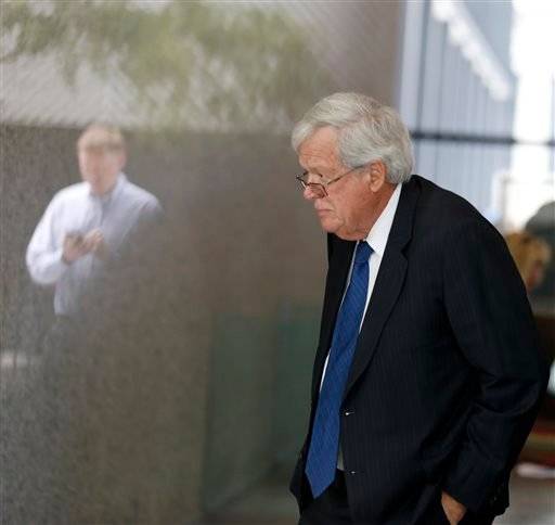 Former House Speaker Dennis Hastert, arrives at the federal courthouse Tuesday, June 9, 2015, in Chicago for his arraignment on federal charges that he broke federal banking laws and lied about the money when questioned by the FBI. The indictment two week