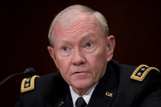 In this photo taken May 6, 2015, Joint Chiefs Chairman Gen. Martin Dempsey testifies on Capitol Hill in Washington. (AP Photo/Manuel Balce Ceneta)