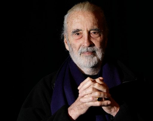 In this file photo dated Friday March 5, 2010, British actor Sir Christopher Lee is photographed before his interview with APTN, at the AP office in north London.
