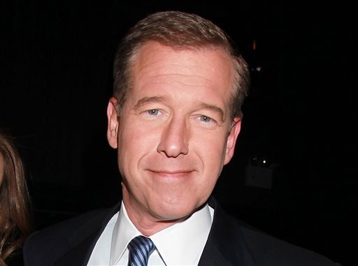 """This April 4, 2012 file photo shows NBC News' Brian Williams, at the premiere of the HBO original series """"Girls,"""" in New York. NBC News says that Brian Williams will not return to his job as """"Nightly News"""" anchor, but will remain anchor breaking news repo"""