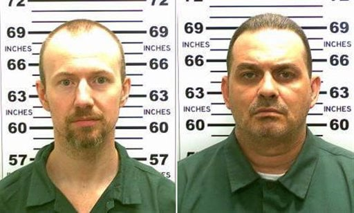 At left, in a May 21, 2015, file photo released by the New York State Police is David Sweat. At right, in a May 20, 2015, file photo released by the New York State Police is Richard Matt. New York State Police are investigating a possible sighting of the