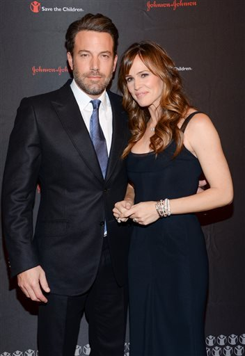 In this Nov. 19, 2014 file photo, actor Ben Affleck and his wife actress Jennifer Garner attend the 2nd Annual Save the Children Illumination Gala in New York.