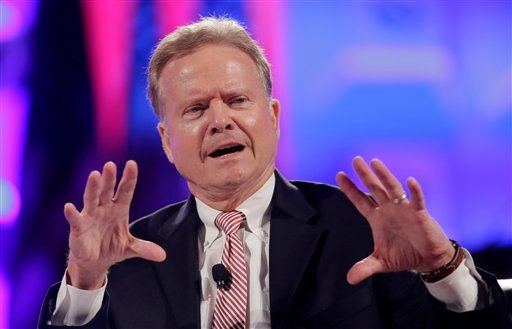 In this June 30,2015 file photo, former Virginia Sen. Jim Webb speaks in Baltimore. On Thursday, Webb announced his campaign for the Democratic presidential nomination. (AP Photo/Patrick Semansky, File)