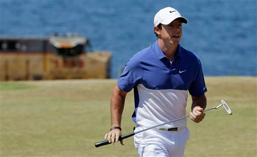A Sunday, June 21, 2015 file photo showing Rory McIlroy, of Northern Ireland, walking off the second green during the final round of the U.S. Open golf tournament at Chambers Bay in University Place, Wash.