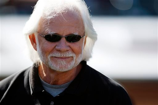 In this Sunday, Oct. 25, 2009 file photo, former Oakland Raiders quarterback Ken Stabler watches before an NFL football game between the New York Jets and the Oakland Raiders in Oakland, Calif.