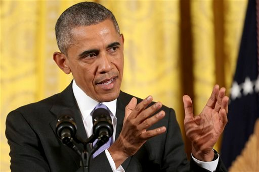 President Barack Obama answers questions about the Iran nuclear deal during a news conference in the East Room of the White House in Washington, Wednesday, July 15, 2015. The president vigorously defended the nuclear deal with Iran, casting the historic a