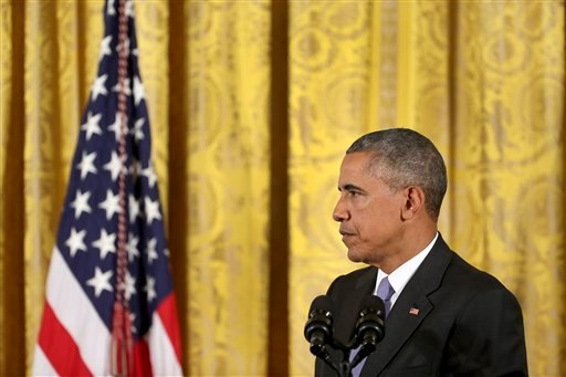 President Barack Obama listens to a question about the Iran nuclear deal during a news conference in the East Room of the White House in Washington, Wednesday, July 15, 2015. The president vigorously defended the nuclear deal with Iran, casting the histor