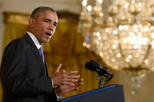 President Barack Obama answers questions about the Iran nuclear deal during a news conference in the East Room of the White House in Washington, Wednesday, July 15, 2015. The president defended his high-stakes nuclear accord with Iran as a sign of America