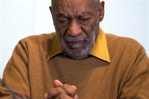 Nov. 6, 2014, file photo: entertainer Bill Cosby pauses during a news conference about the upcoming exhibit at the Smithsonian's National Museum of African Art in Washington. (AP Photo/Evan Vucci, File)