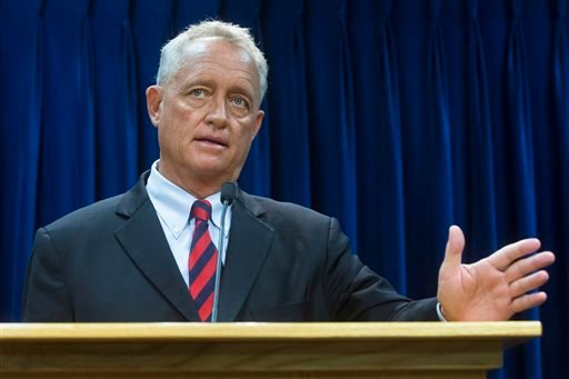 Hamilton County Prosecutor Joseph Deters announces murder and manslaughter charges against University of Cincinnati police Officer Ray Tensing, Wednesday, July 29, 2015, in Cincinnati, for the traffic stop shooting death of motorist Samuel DuBose.