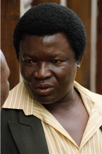Farm owner Honest Trymore Ndlovu appears at Hwange magistrates' court to face poaching charges, about 435 miles (700 kilometers) west of the capital Harare, Wednesday, July, 29, 2015.