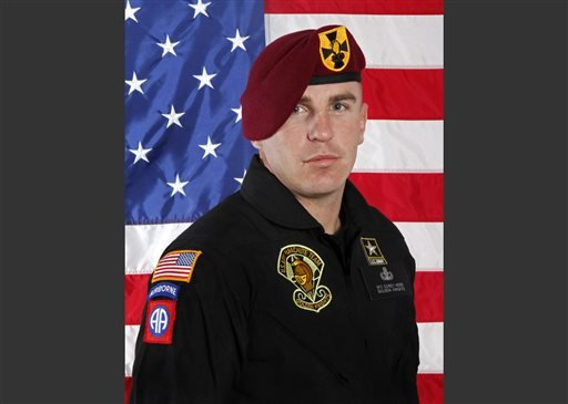 This undated photo provided by the U.S. Army shows Sgt. 1st Class Corey Hood.