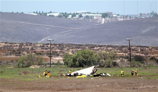 Authorities say multiple people died following the midair collision and crash of two small planes near an airport in southern San Diego County.