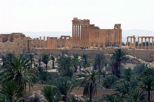 This file photo released on Sunday, May 17, 2015, by the Syrian official news agency SANA, shows the general view of the ancient Roman city of Palmyra, northeast of Damascus, Syria. Islamic State militants beheaded 81-year-old Khaled al-Asaad, a leading S