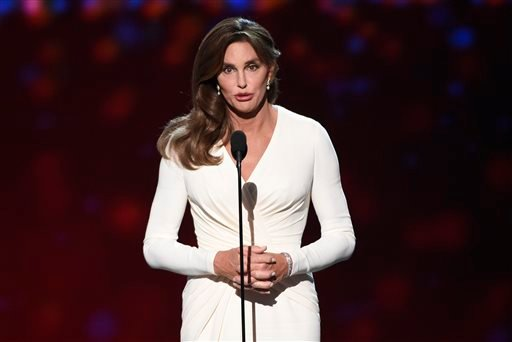 In this Wednesday, July 15, 2015 file photo, Caitlyn Jenner accepts the Arthur Ashe award for courage at the ESPY Awards at the Microsoft Theater in Los Angeles. Sheriff's investigators plan to recommend prosecutors file a vehicular manslaughter charge ag