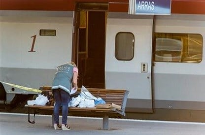 A spokesman for France's interior ministry says three people were wounded in a shooting on a high-speed train traveling from Amsterdam to Paris Friday. AP