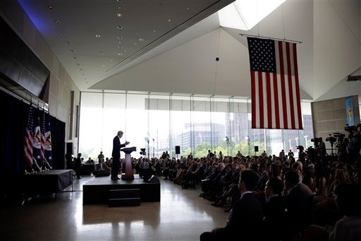 "Secretary of State John Kerry delivers a speech in support of the Iran nuclear deal at the National Constitution Center, Wednesday, Sept. 2, 2015, in Philadelphia. ""Rejecting this agreement would not be sending a signal of resolve to Iran, it would be bro"