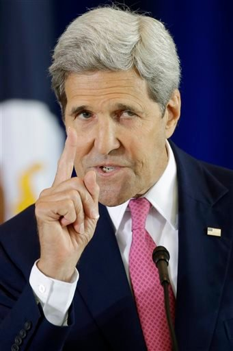 Secretary of State John Kerry delivers a speech in support of the Iran nuclear deal at the National Constitution Center, Wednesday, Sept. 2, 2015, in Philadelphia. The speech comes amid a bitter partisan battle over the agreement in Congress, where no Rep