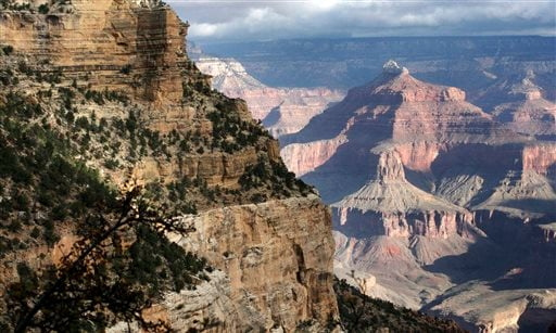 This Oct. 22, 2012, file photo shows a view from the South Rim of the Grand Canyon National Park in Ariz. (AP Photo/Rick Bowmer, File)