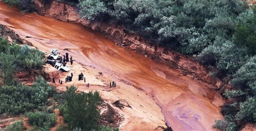 Multiple hikers who entered a narrow desert canyon for a day of canyoneering became trapped when a flash flood filled the chasm with water, killing several of them in Zion National Park, officials said Wednesday.(Scott G Winterton/The Deseret News via AP)