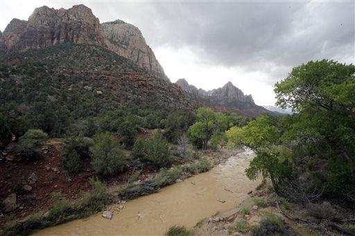 The Virgin River is shown Wednesday, Sept. 16, 2015, in Zion National Park, near Springdale, Utah. (AP Photo/Rick Bowmer)
