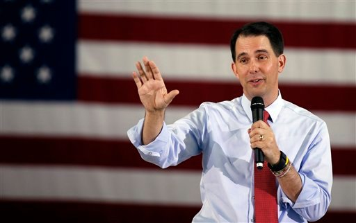 In this Sept. 14, 2015 file photo, Republican presidential candidate Wisconsin Gov. Scott Walker speaks in Las Vegas. Two people familiar with his decision say Walker is dropping out of the Republican race for president. (AP Photo/Isaac Brekken, File)