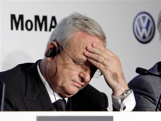 In this May 23, 2011 file photo Martin Winterkorn, CEO of Volkswagen, participates in a news conference at New York's Museum of Modern Art.