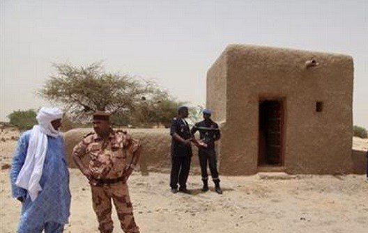 An alleged Islamic extremist charged with involvement in the destruction of religious buildings has been arrested and was sent to the International Criminal Court early Saturday, Sept. 26, 2015 to face justice. (AP Photo/Baba Ahmed, File)