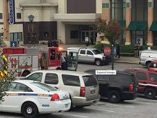 Police and emergency crews outside of Richland Mall in Columbia, SC