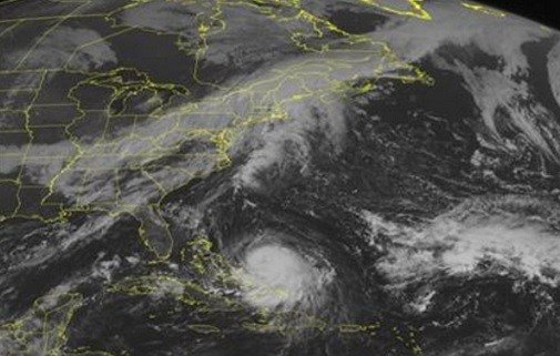 In the Caribbean region is Hurricane Joaquin. The storm is expected to start heading north and could possibly effect the east coast later in the week. (Weather Underground via AP)